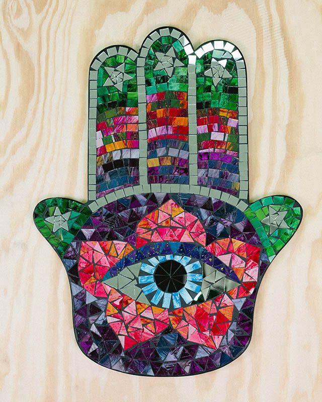 "Love it! Want one! Hamsa Hand Mosaic, 20"" $39.95"
