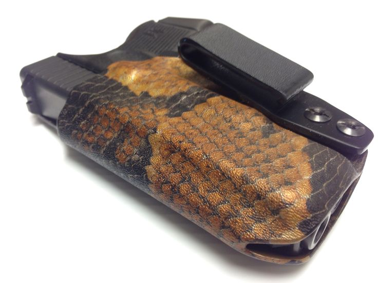 Custom Kydex holster by Con-Tac Holsters - A.C.T. (Appendix Concealed Tactical) holster with snake skin coating courtesy of P2 Coatings.