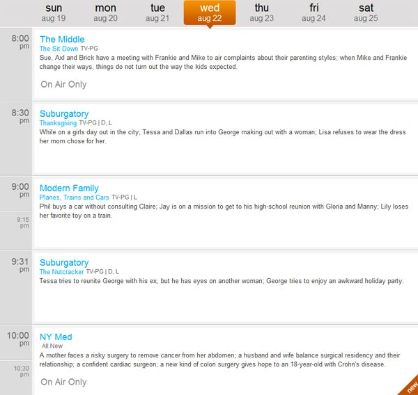 Hotwire Communications - Tonights ABC Primetime Schedule