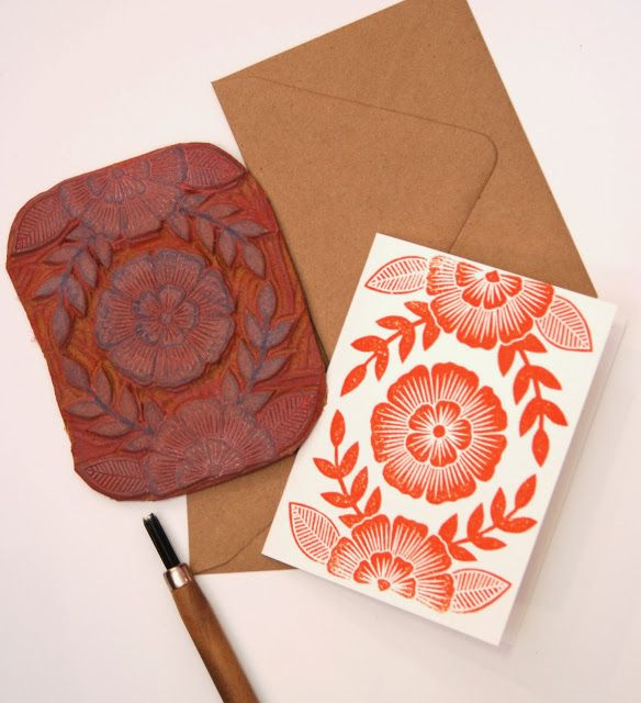 Katherine Watson's hand-carved stamps are so inspiring.