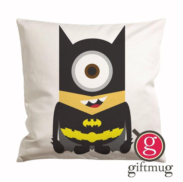 Despicable Me Minion Batman Cushion Case / Pillow Case
