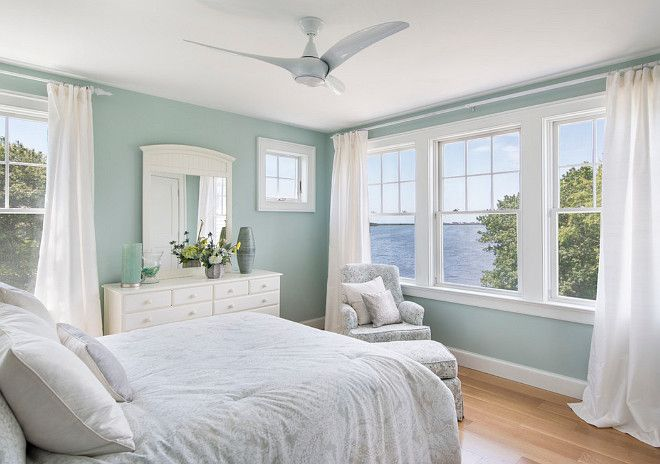 """This is one of my favorite paint colors; """"Benjamin Moore HC-144 Palladian Blue""""."""