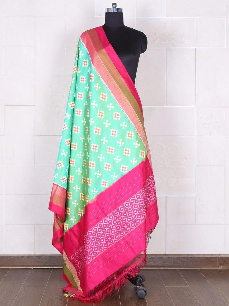 Purple Banarasi Silk Dupatta