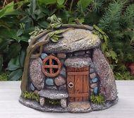Miniature Dollhouse FAIRY GARDEN ~ Stone Look TROLL House with Light ~ NEW