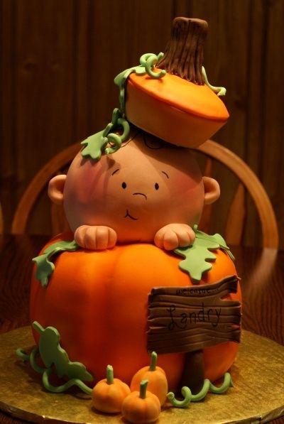 Fall Baby ShowerBaby Shower Cakes, Baby Cake, Pumpkin Cakes, Cake Ideas, First Birthday, Fall Cake, Halloween Cake, Fall Baby Showers, Baby Shower
