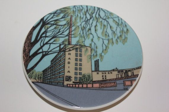 "Collectible ""Tehdasvierailu"" wall plate by Arabia Finland on Etsy, $52.00"