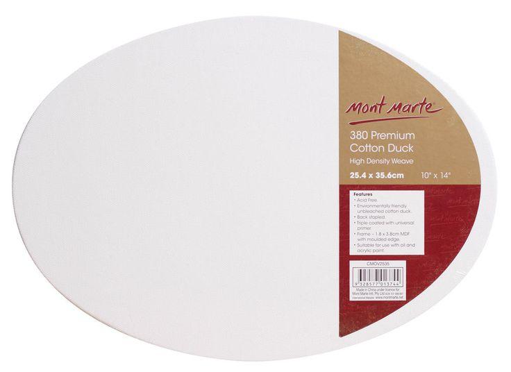 Mont Marte Canvas Oval D.T. 25.4 x 35.6cm - Art Shed Online