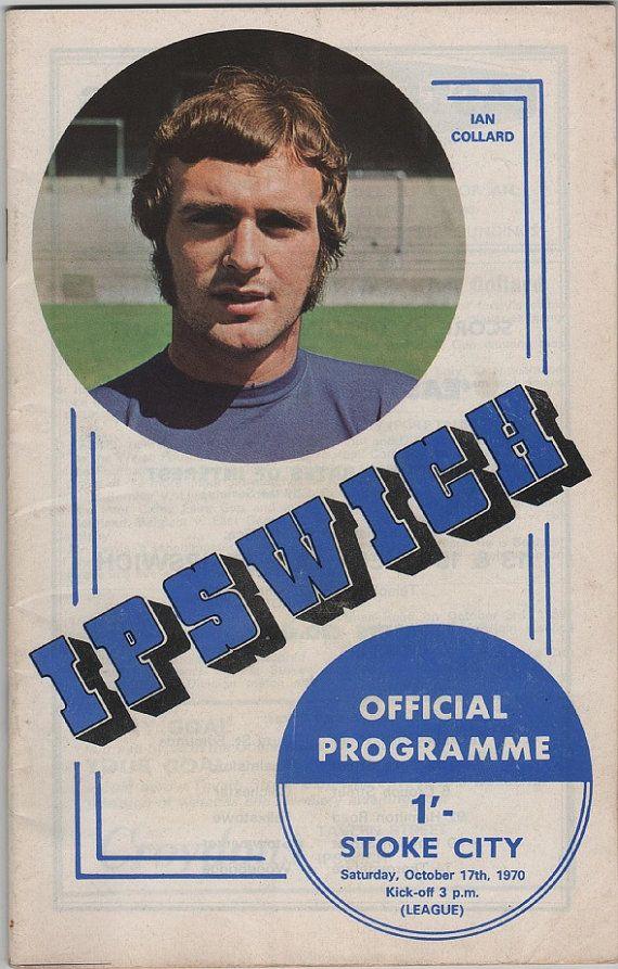 Vintage Football (soccer) Programme - Ipswich Town v Stoke City, 1970/71 season, by DakotabooVintage