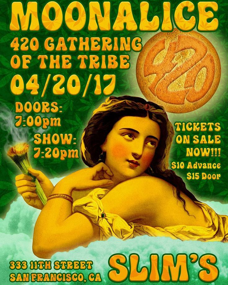 It's almost 4/20 - Thursday!  Annual Gathering of the Moonalice Tribe  @slimsSF Thursday!  Plus DOOBIE DECIBEL SYSTEM And our favorite clown  Wavy Gravy is the M.C!  Posters for everyone in attendance &  Many of the poster artists will be there!