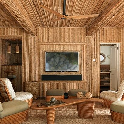 Mid Century Bamboo TV Room Living TvIdeas