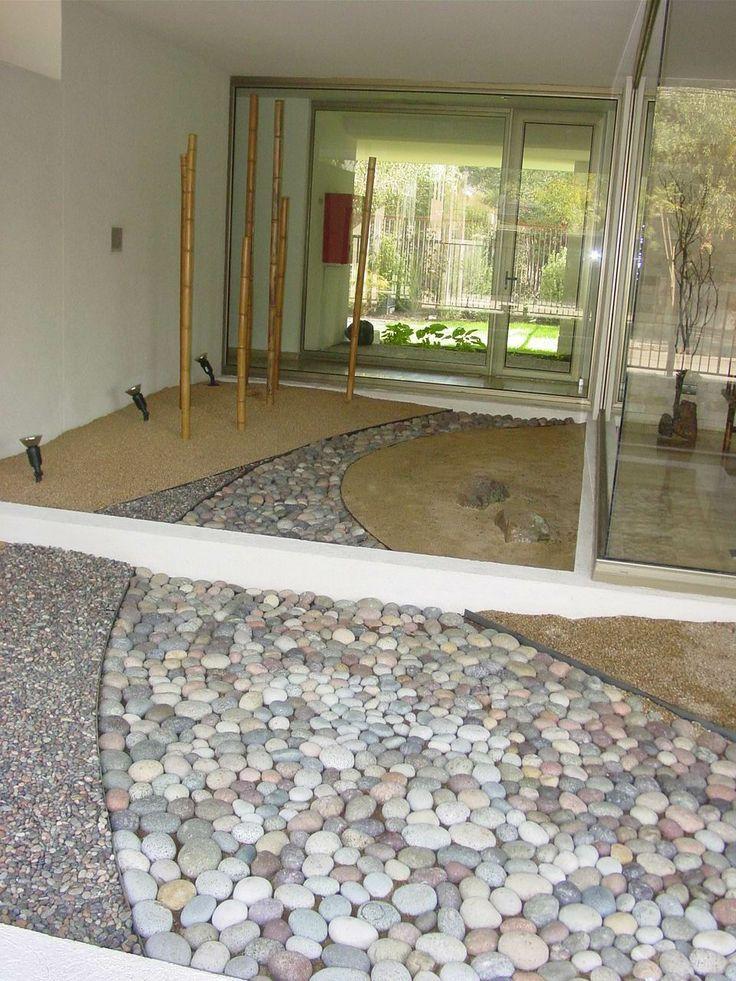 M s de 25 ideas incre bles sobre canteros piedras en - Suelo jardin barato ...