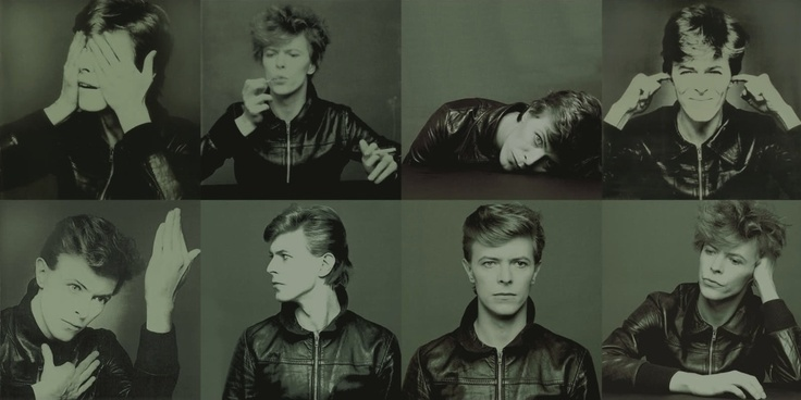 David Bowie in different poses.
