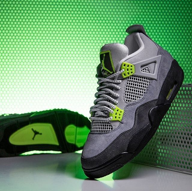 Air Jordan 4 95 Neon In 2020 With Images Jordans Sneakers