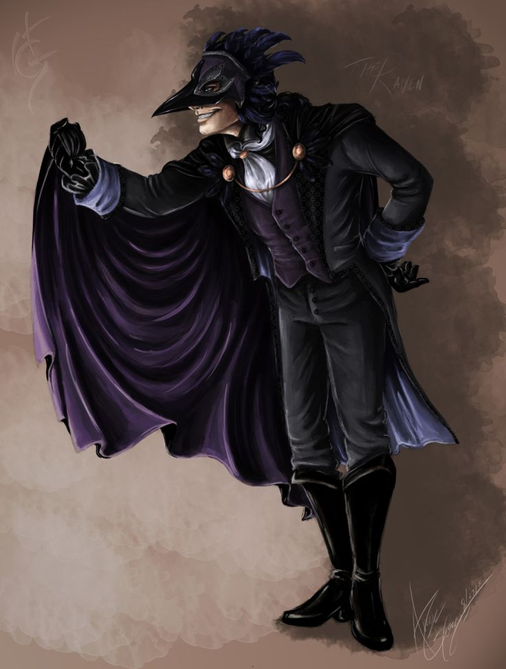 He will be going as the Raven, from the Edgar Allan Poe poem! Description from phantommanor.proboards.com. I searched for this on bing.com/images