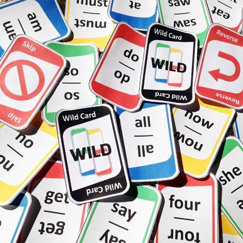 Kindergarten Sight Words Card Game