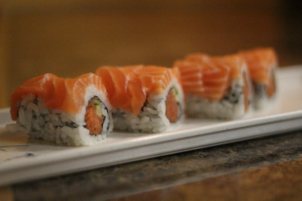 Nice, thick cuts of salmon on a roll from Z Sushi Cafe in French Valley.