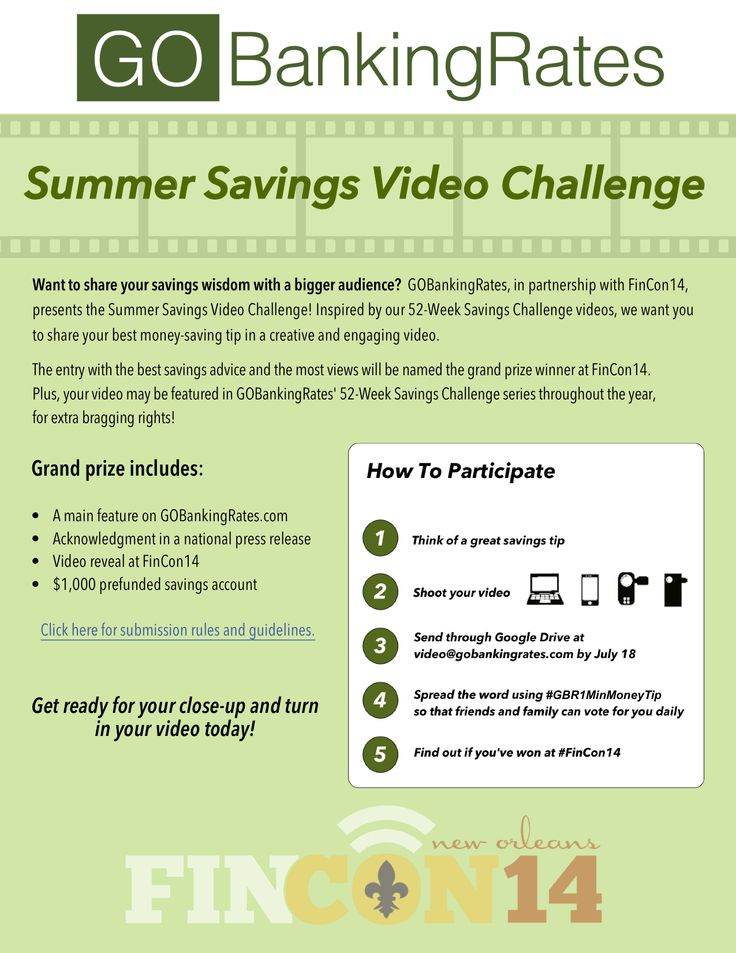 Enter the GOBankingRates Summer Savings Video Challenge for a Chance to Win $1,000 - FinCon Media