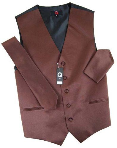 Solid Brown Tuxedo Vest Set  http://www.yourneckties.com/solid-brown-tuxedo-vest-set/