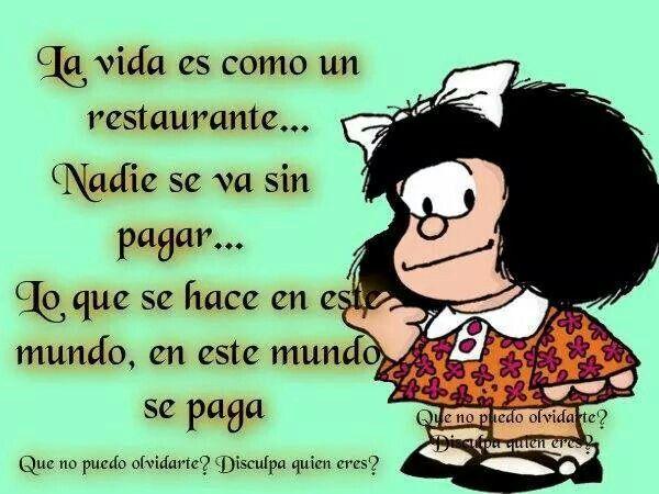 Frases Chistosas De La Vida: La Vida.... #mafalda