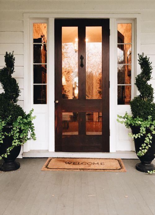 """kingstreetking:  Doormat said, """"Welcome."""" Charleston, SC"""