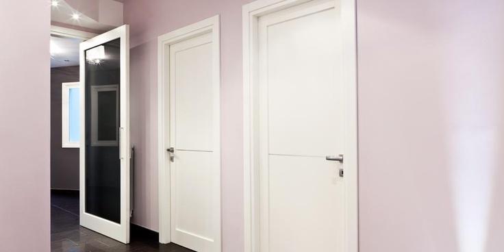 porte moderne in legno per interni, rototraslanti, scorrevoli a scompars