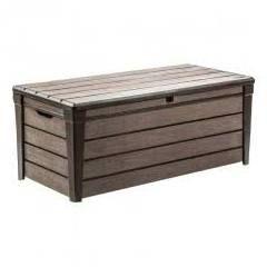 Keter 227011 Brushwood 120 gal. Resin Deck Box, Brown