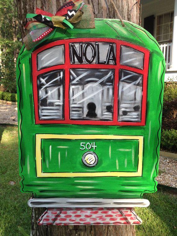 New Orleans Streetcar Door Hanger Wreath by ArtworkToTreasure