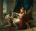Sappho and Phaon by Jaques-Louis David