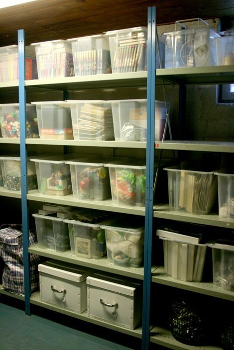Organized basement: In My Dreams, Dreams Basements, Basements Organizations, Basements Storage, Storage Rooms, Shelves, Organizations Basements, Garage Storage, Storage Ideas