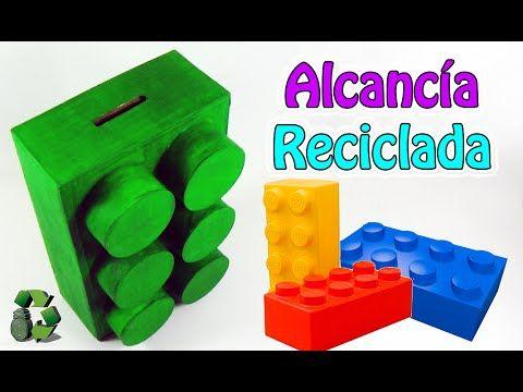 215. Manualidades con cartón: Como hacer Alcancía (Reciclaje) Ecobrisa