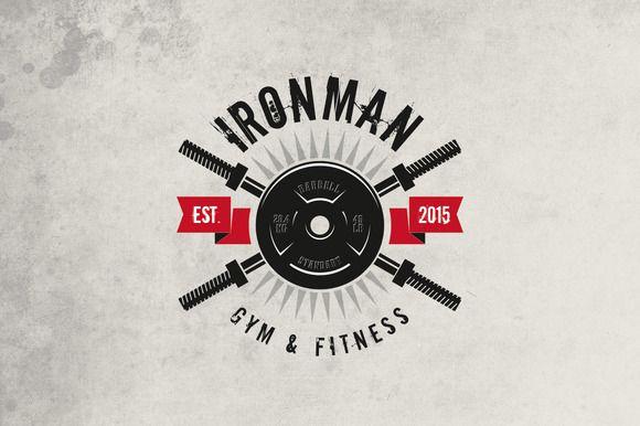 Gym & Fitness Logo by g design on Creative Market