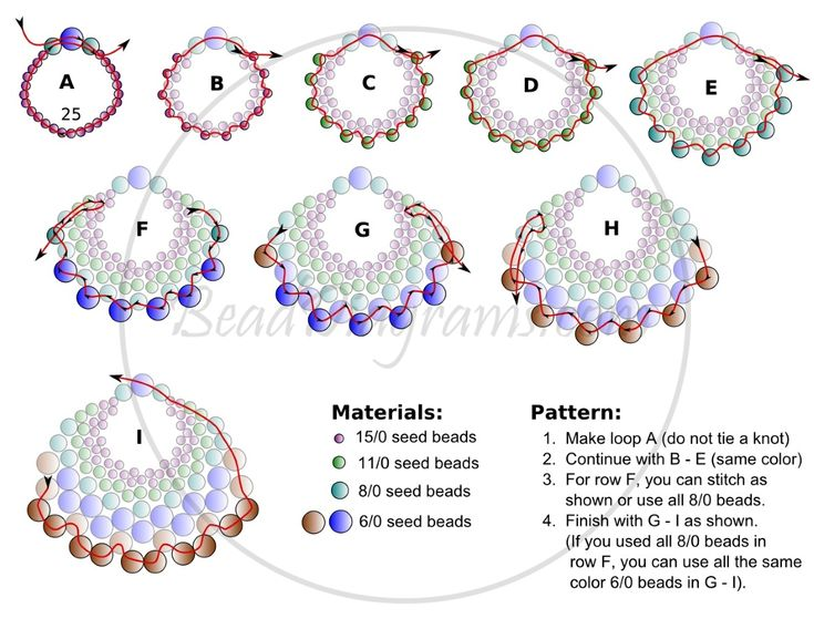 FREE Pattern for PEYOTE FAN Earrings - Connect them to make the PEYOTE FAN Necklace! Page 2 of 2