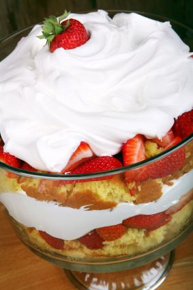*Easter Dessert* Strawberry Trifle Recipe but I'll just Angel food instead of pound cake.
