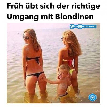 Blondinenwitze - Richtiger Umgang mit Blondinen - Knackiger Hintern - Lustiges Kind