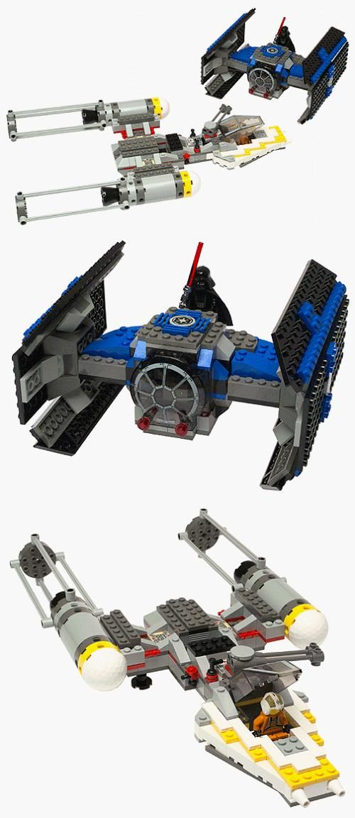 lego mini y wing fighter instructions