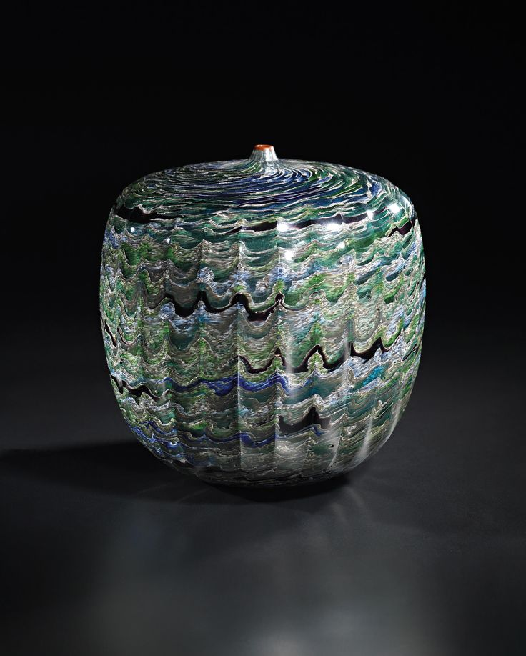 ** Yoichi Ohira (Japanese, b. 1946), Unique Hand-blown Murrine Glass Vase, 2005.