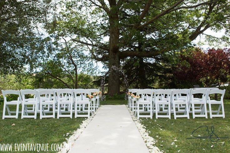 Simple yet romantic wedding aisle and ceremony venue - Event Avenue