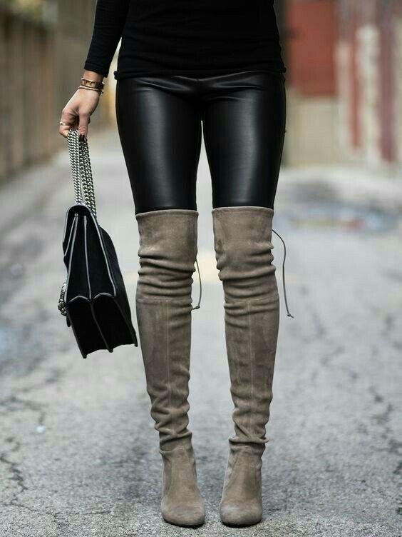 ae87520f4c Black faux leather leggings