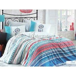 Hobby Home Eva turcoaz - Lenjerie de pat din bumbac ranforce 2 persoane