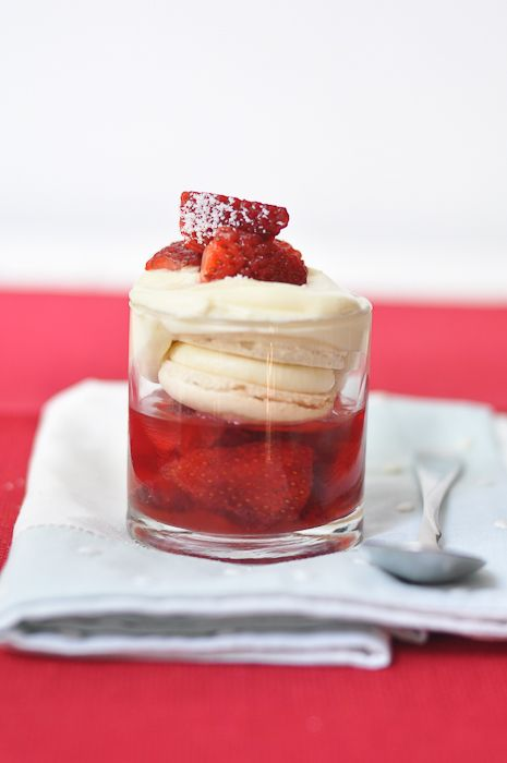Strawberry and Macaron Trifle