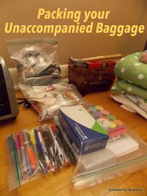Our Unaccompanied Baggage/Express shipment gets picked up tomorrow morning between 0800 and 1000. I've poured over the internet, trying to...