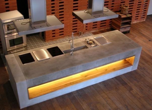 küchenblock aus beton. möbeldesigner haben beton für sich entdeckt ... - Küche Aus Beton Selbst Bauen