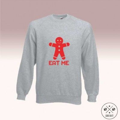 Bluza męska z nadrukiem pierniczka z napisem Eat me. Idealny pomysł na świąteczny prezent Men sweatshirt with gingerbread print and Eat me text. Perfect idea for christmas gift