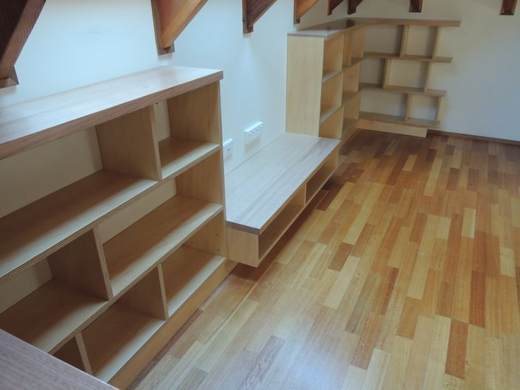 Ash and Hoop pine ply shelf for Jani