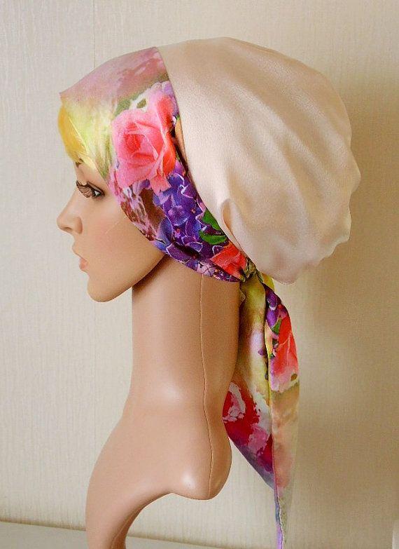 Womens satin headscarf silky tichel by accessoriesbyrita on Etsy