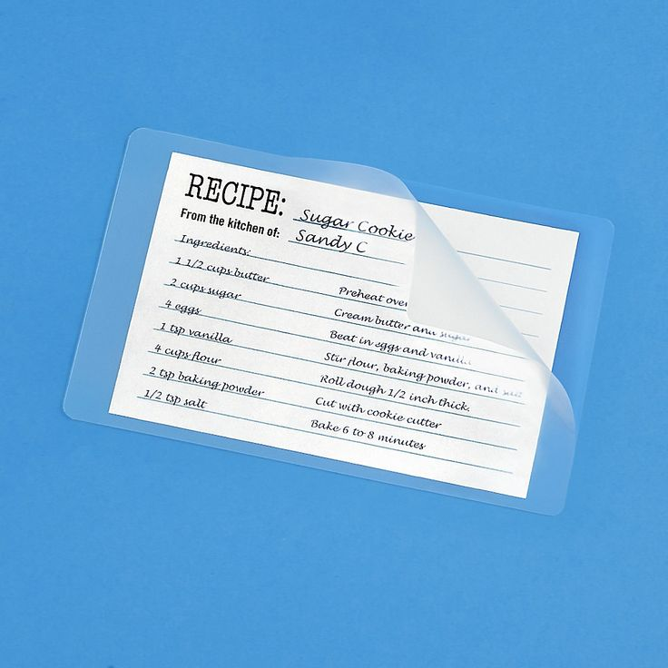 Index card laminating pouches glossy 5 mil s11150