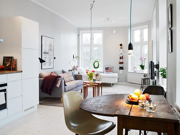 Big Design Ideas For Small Studio Apartments Apartment In Gothenburg Showcasing An Ingenious Layout Little Too White My Taste But I Like The