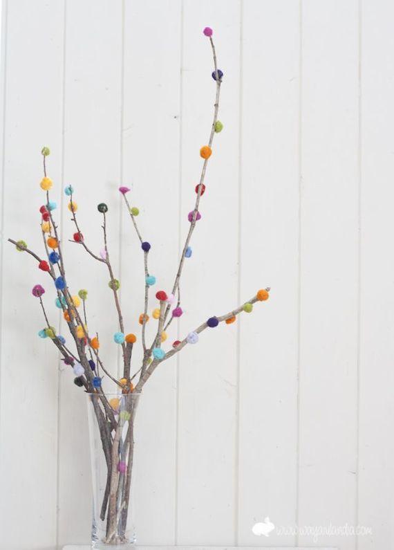 Ramas decoradas / Felt branches - La Factoría Plástica