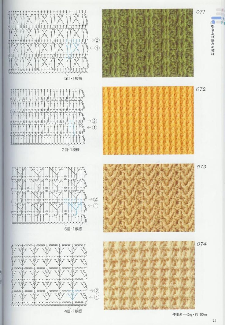 Diagrams Of Knitting Stitches : 360 best images about Crochet stitches and diagrams on Pinterest Crochet pa...