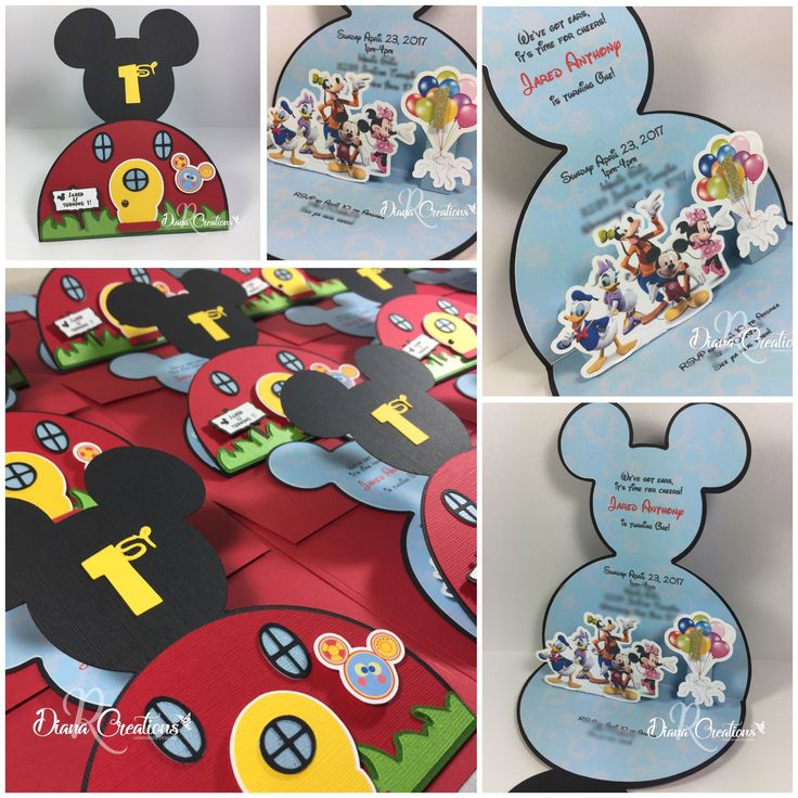 Best 25 Mickey mouse clubhouse invitations ideas – Handmade Mickey Mouse Birthday Invitations